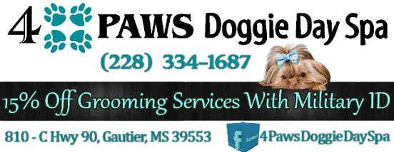4 Paws Doggie Day Spa - Gautier, MS