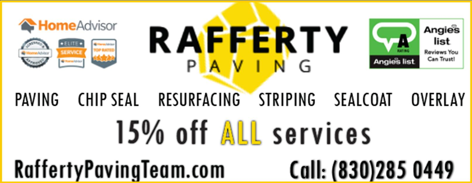 Rafferty Paving Team - Kerrville Texas